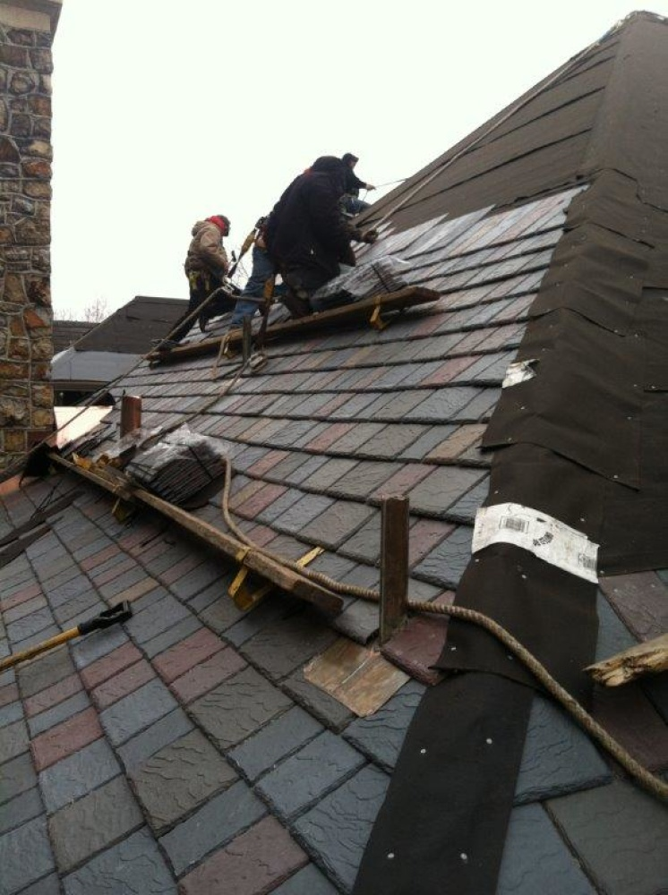 davinci multi-width slate roof in virginia