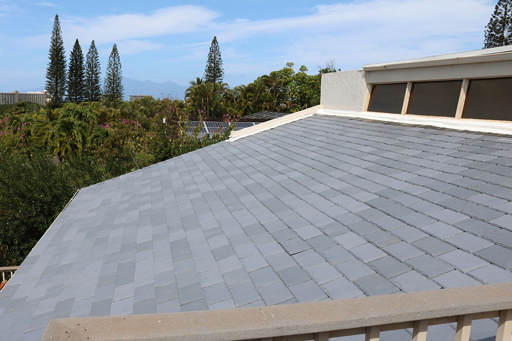 Hawaiian paradise davinci roofscapes for Davinci roofing products