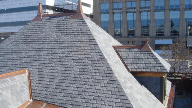 simulated slate roof