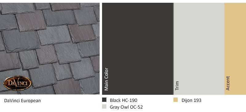 davinci european color scheme with black, gray owl, and dijon