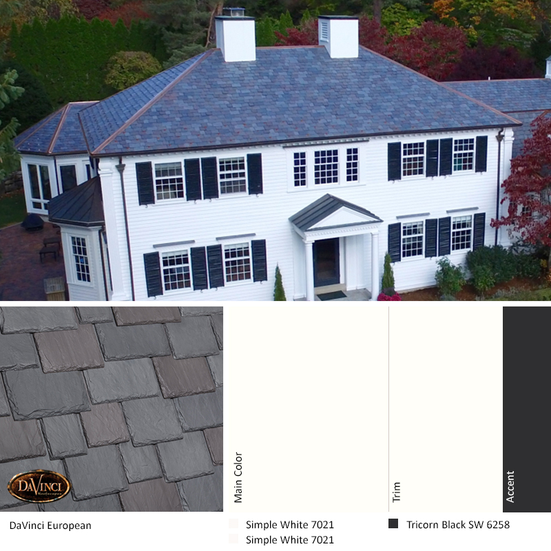 davinci european slate color scheme in simple white and tricorn black