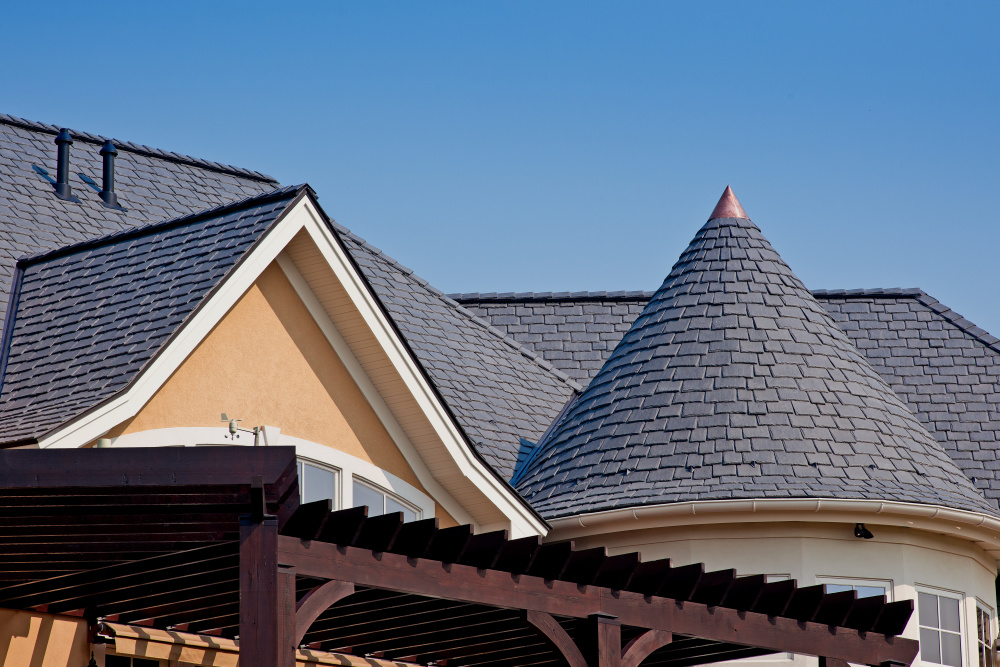 Composite slate roof