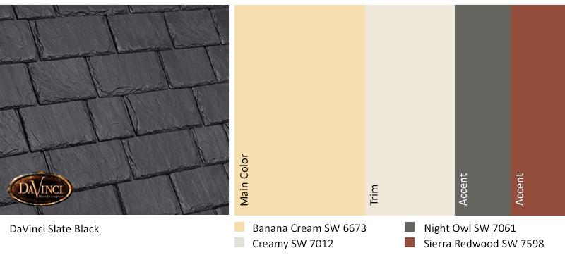 Slate Black Roof Color Scheme
