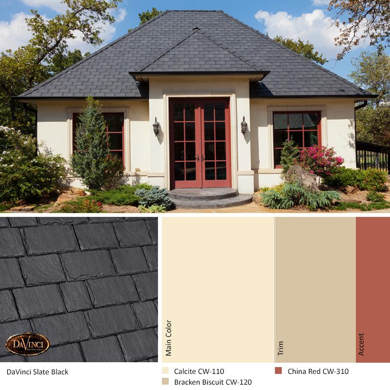 Captivating Slate Black Roof Color Scheme