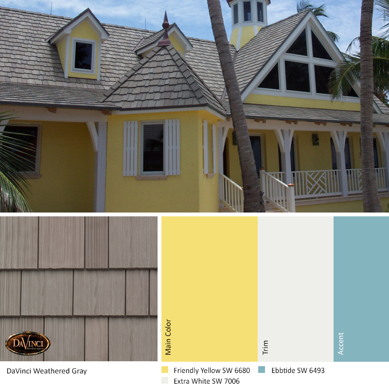 Weathered Gray Friendly Yellow