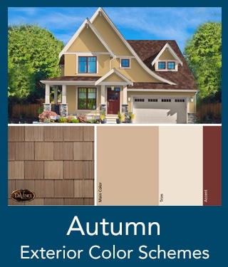 Autumn Shake Roof Exterior Color Schemes