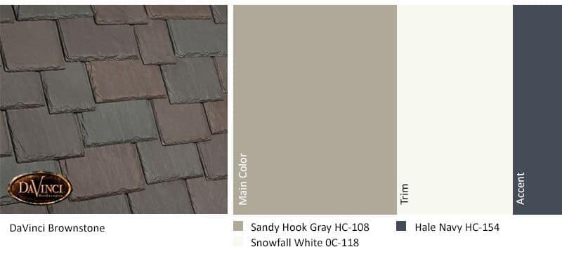 regional exterior colors Orange County Brownstone Sandy Hook Gray