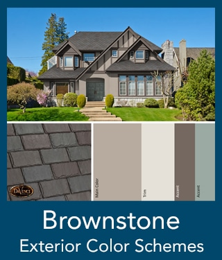 Brownstone Slate Roof Exterior Color Schemes