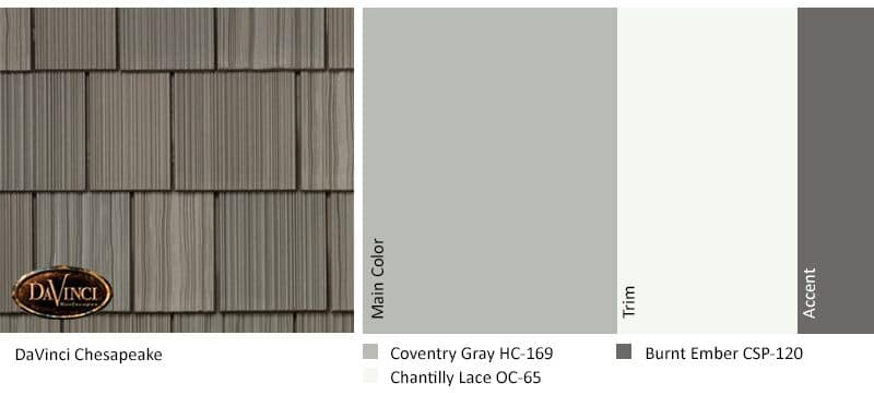 regional exterior colors Orange County Chesapeake Coventry Gray