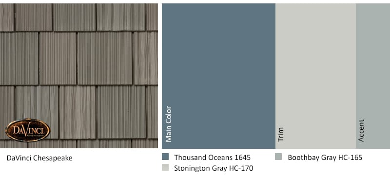 Regional Exterior Colors of Long Island Benjamin Moore Thousand Oceans