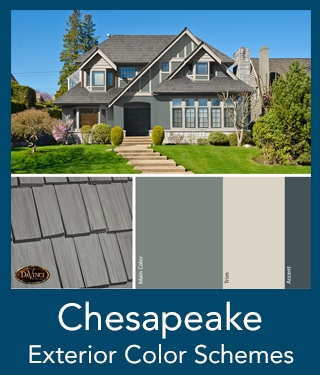 Chesapeake Shake Roof Exterior Color Schemes