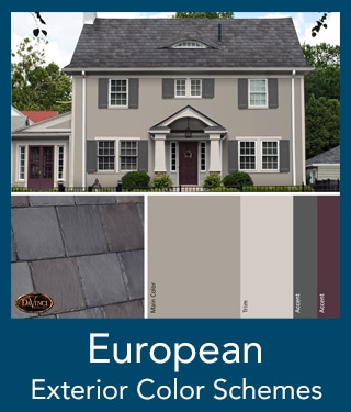 European Slate Roof Exterior Color Schemes