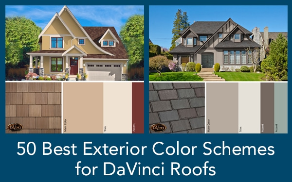 Best Exterior Color Schemes for DaVinci Roofs