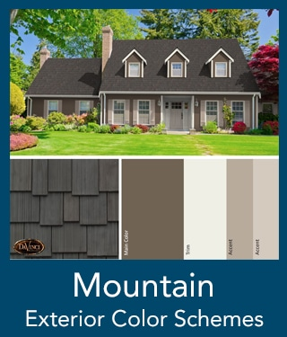 Mountain Shake Roof Exterior Color Schemes