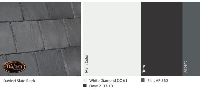regional exterior colors Orange County White Diamond Slate Black