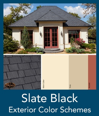 slate black Slate Roof Exterior Color Schemes