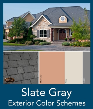 slate gray Slate Roof Exterior Color Schemes