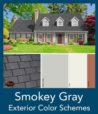 Smokey Gray Slate Roof Exterior Color Schemes