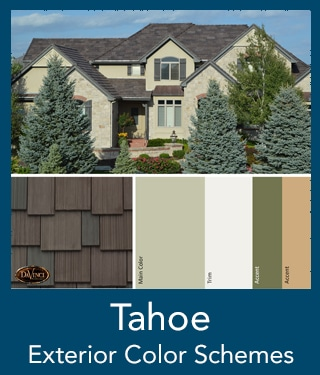 Tahoe Shake Roof Exterior Color Schemes