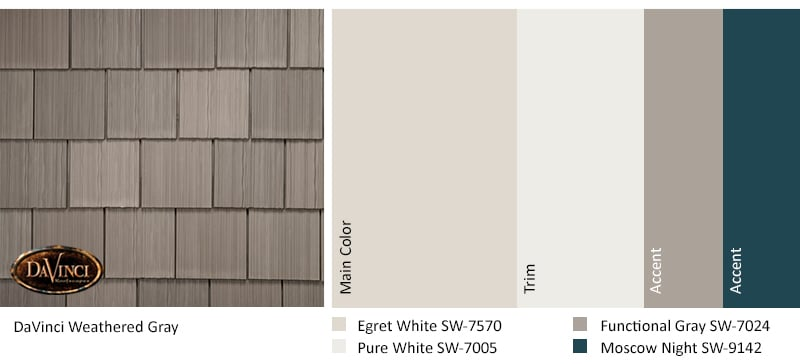 Regional Exterior Colors of Long Island Sherwin Williams Egret White