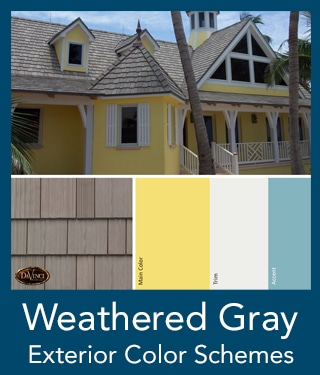 Weathered Gray Shake Roof Exterior Color Schemes