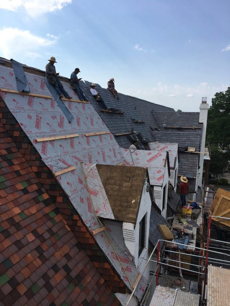 composite slate roof old clay tile roof