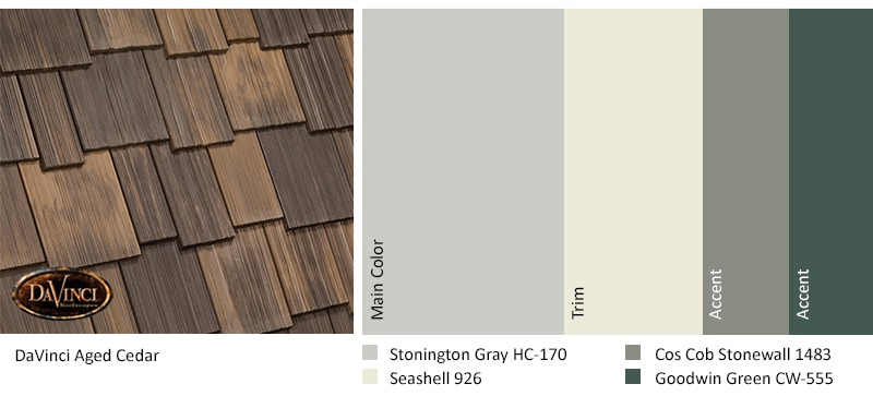Nature Crafted Collection Aged Cedar Exterior Color Scheme