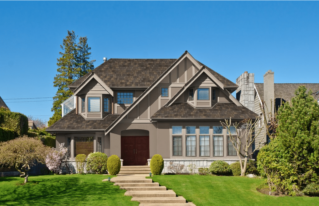 aged cedar roof exterior color schemes