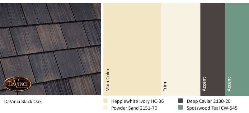 Black Oak Roof Exterior Color Schemes Nature Crafted Collection