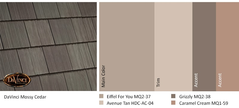 Mossy Cedar Roof exterior color schemes Nature Crafted Collection