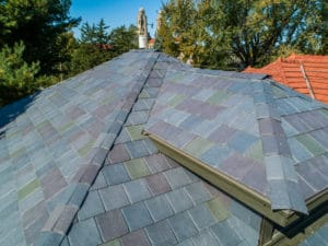 multi colored weather resistant roof