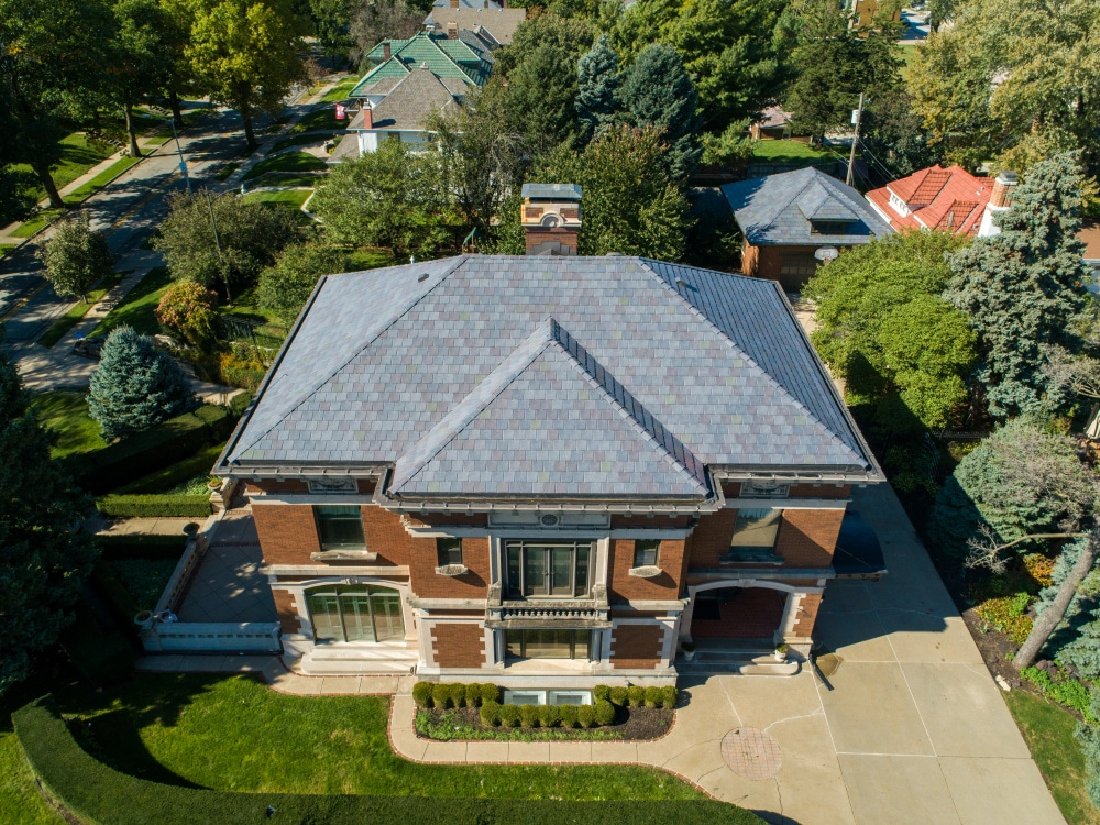 synthetic slate roof by DaVinci Roofscapes