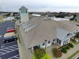 davinci, hurricane rated roof on captain george's seafood restaurant in north carolina