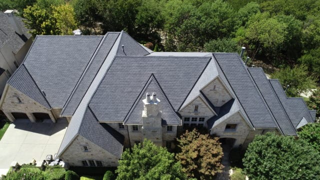 composite slate roof on residential home