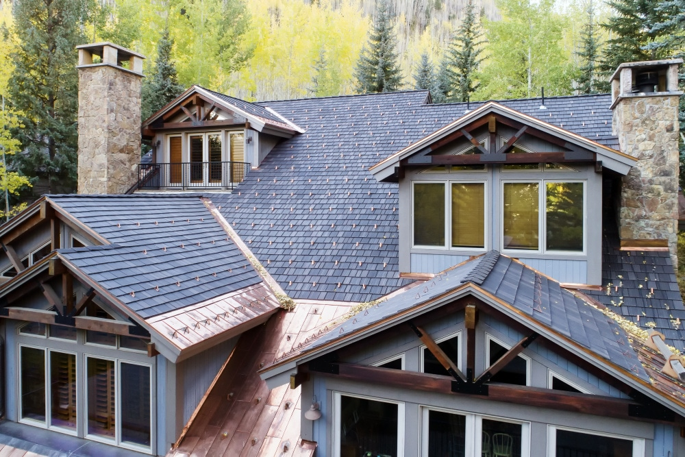 new roof for a residential home in the mountains