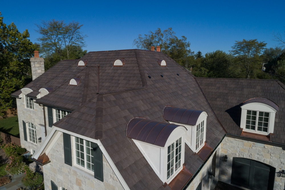 shake roof on residential home