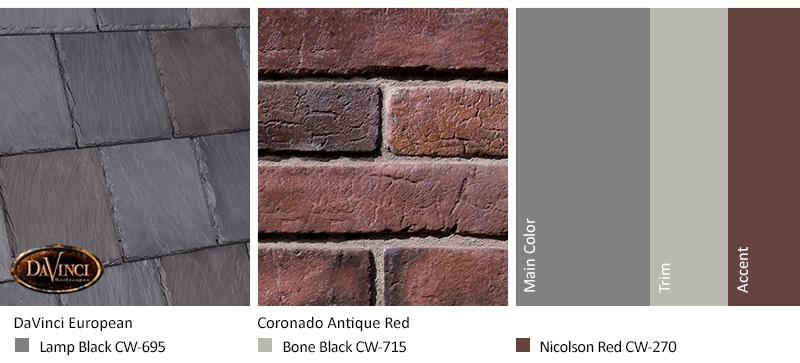 Red Brick Exterior Color Schemes Davinci Roofscapes