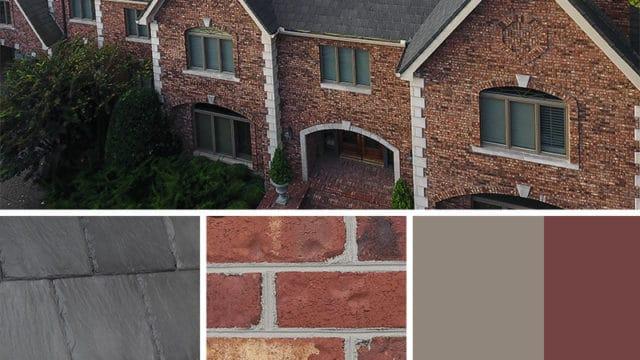 Exterior Color Scheme for brick and Bellaforté Slate Gray roof