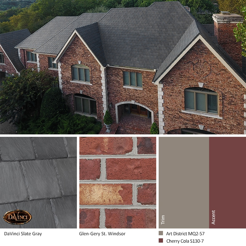 Terrific Red Brick Exterior Color Schemes Davinci Roofscapes Download Free Architecture Designs Scobabritishbridgeorg