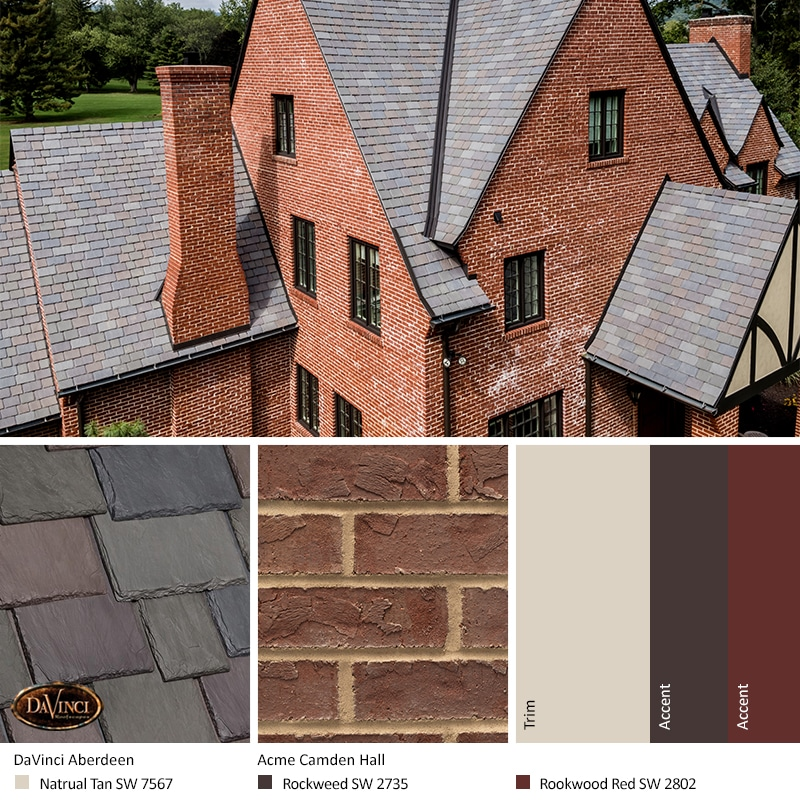 Red Brick Exterior Color Schemes Davinci Roofscapes