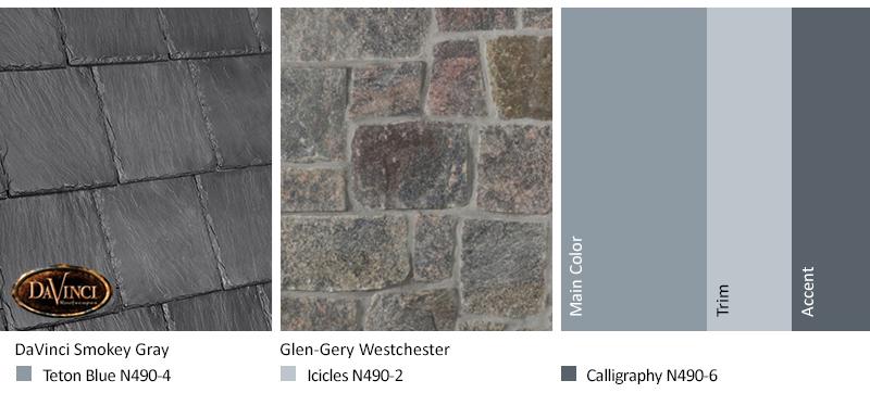 Gray Stone Exterior Color Schemes with Bellaforté Slate Smokey Gray