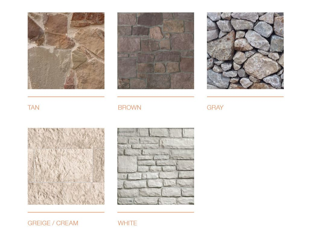 Stone Exterior color schemes for stone colors