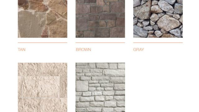 Exterior color schemes for stone colors