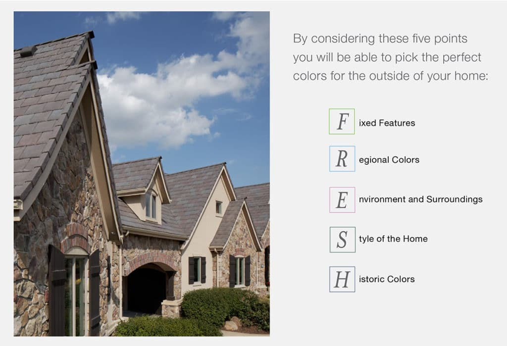 Stone Exterior Color Schemes using the FRESH approach