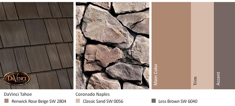 Select Shake Tahoe Cream Stone Exterior Color Schemes