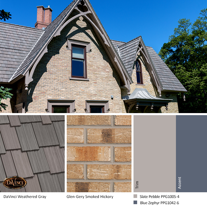 Tan Brick Exterior Color Schemes Davinci Roofscapes