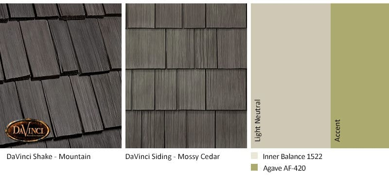 1. Bellaforte Shake – Mountain – mossy cedar Shake Siding Exterior Color Schemes