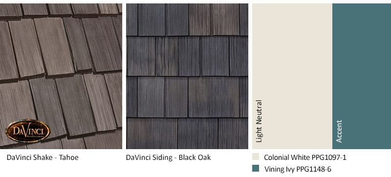 1. Bellaforte Shake – Tahoe – Black Oak Shake Siding Exterior Color Schemes