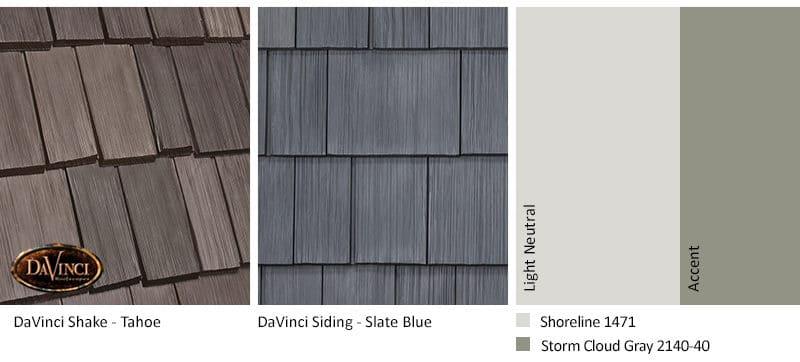 1. Bellaforte Shake – Tahoe – Slate Blue siding exterior color schemes
