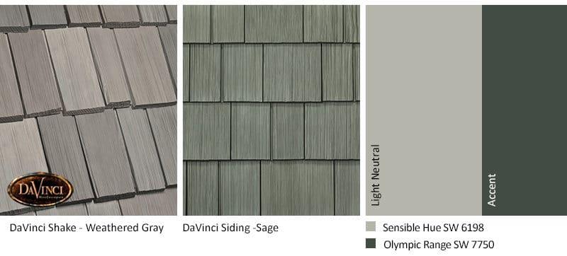 1. Bellaforte Shake – Weathered Gray – Sage exterior color schemes shake siding